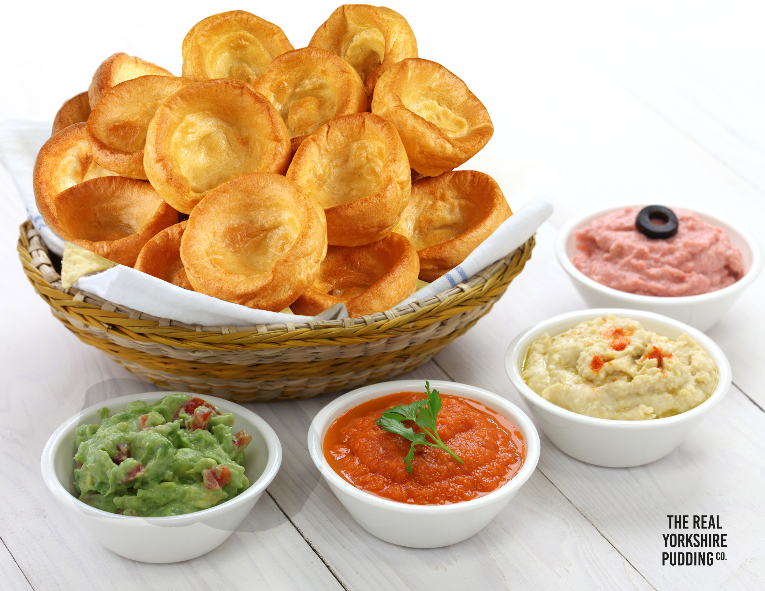 Yorkshire Pudding and dips